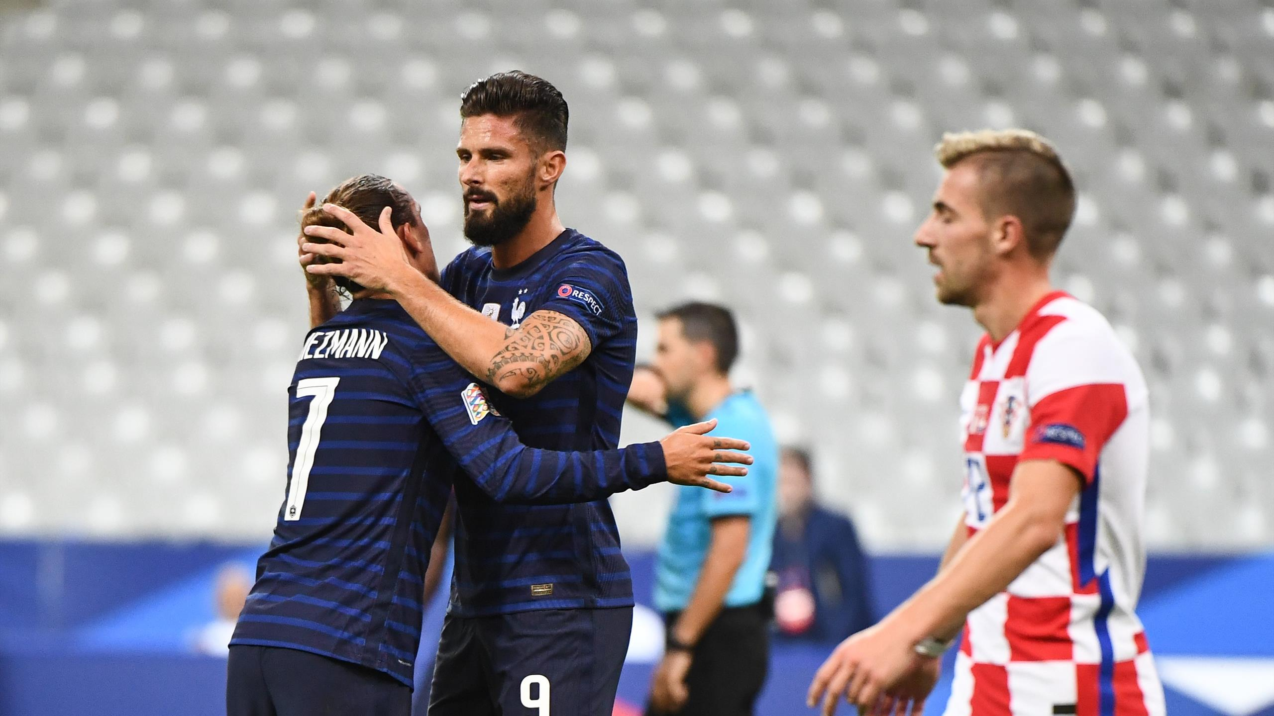 Olivier Giroud And Antoine Griezmann On Target As France Beat Croatia In Nations League Eurosport