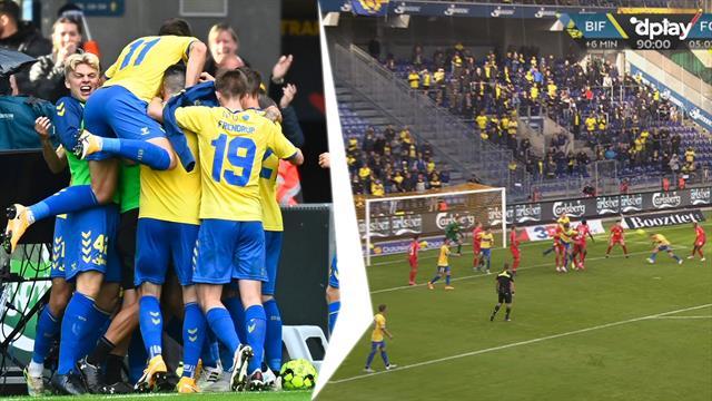 Highlights: Brøndby sejrer i fem minutters overtid efter forrygende comeback