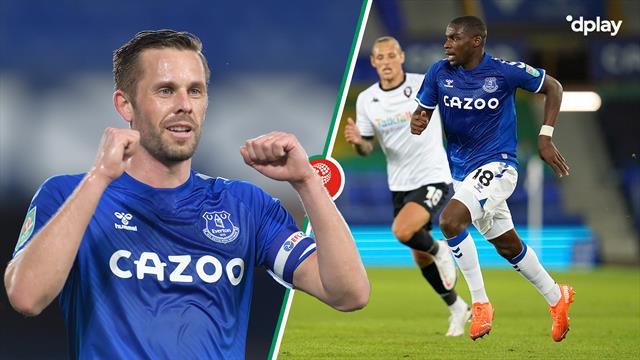 Highlights: Gylfi Sigurdsson gik forrest i Evertons pligtsejr over League 2-hold