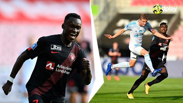 Highlights: Sisto blev matchvinder i midtjysk chancemylder mod Lyngby
