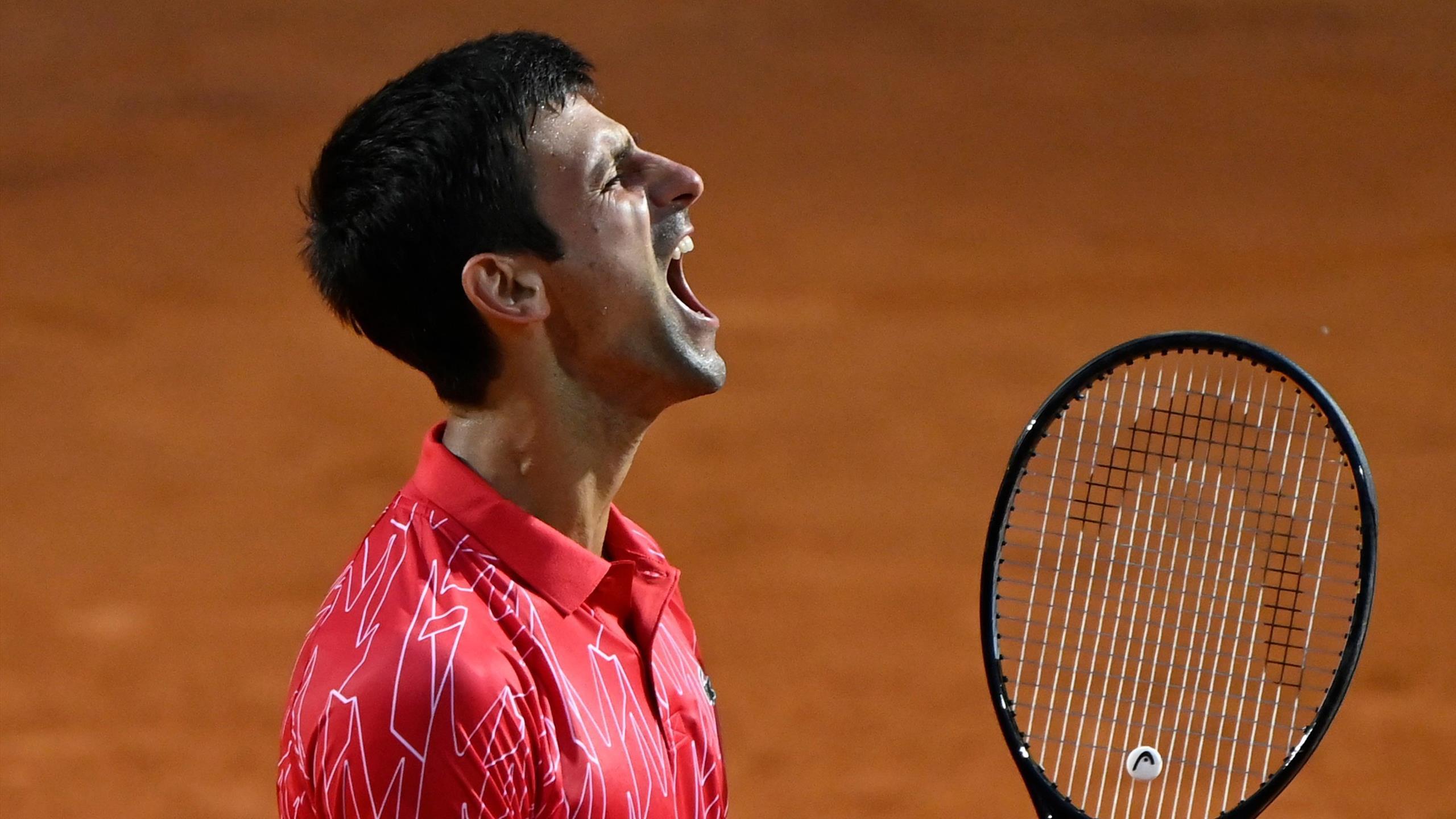 Highlights Novak Djokovic And Rafael Nadal Win Through At Rome Masters Tennis Video Eurosport