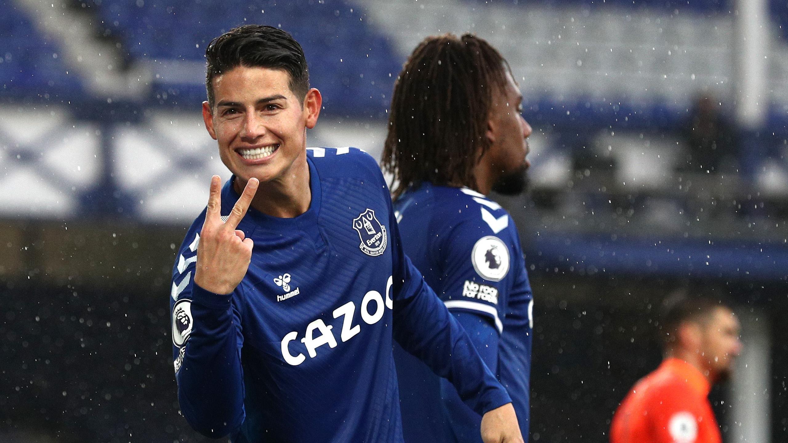 James Rodriguez Brace As Everton Coast To Win Over Brighton Eurosport