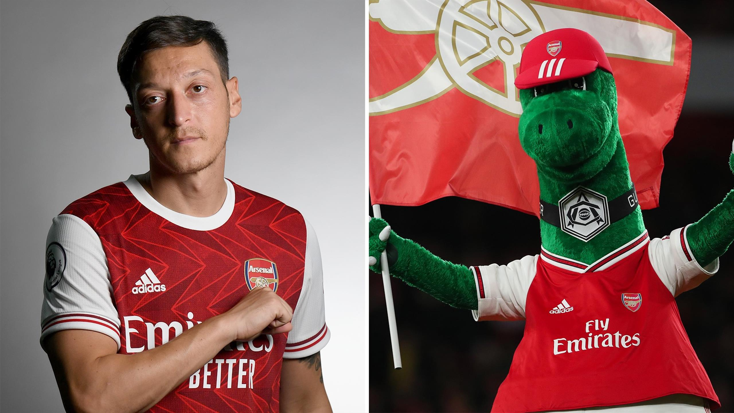 Mesut Ozil Fc Saves Gunnersaurus And We Love It The Warm Up Eurosport