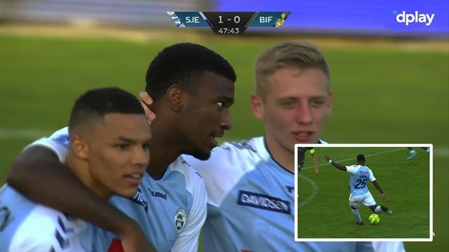 En resolut afslutning! Haji Wright sætter Brøndbys sejrsstime over styr med 1-0-scoring