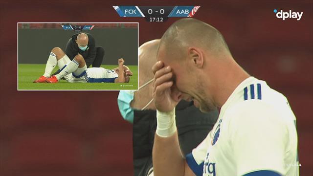 Wilczek i tårer - bliver udskiftet med en skade efter 18 minutter