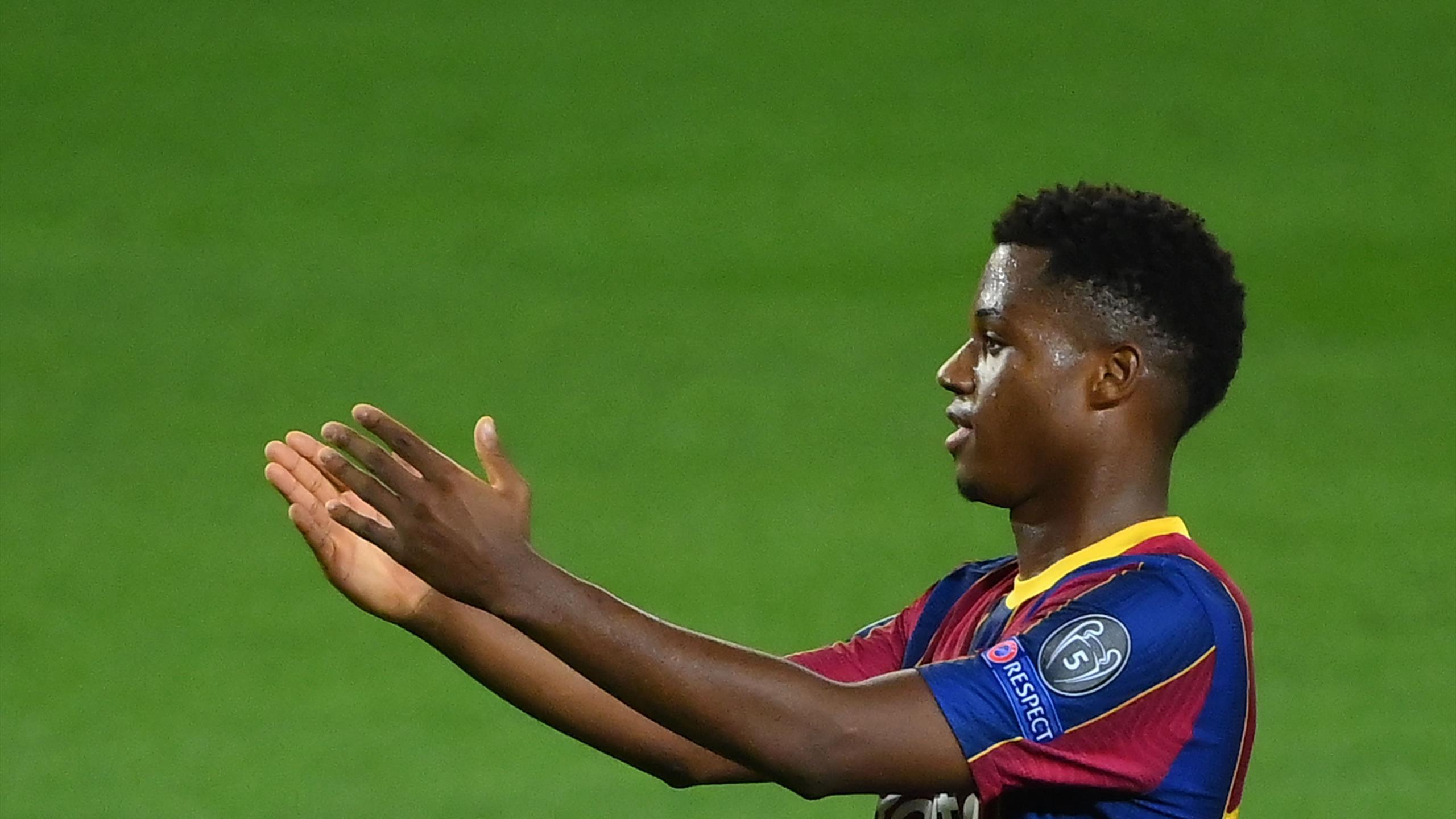 Ligue des champions - Le FC Barcelone s'impose face à Ferencvaros (5-1), Ansu Fati éblouissant - Eurosport