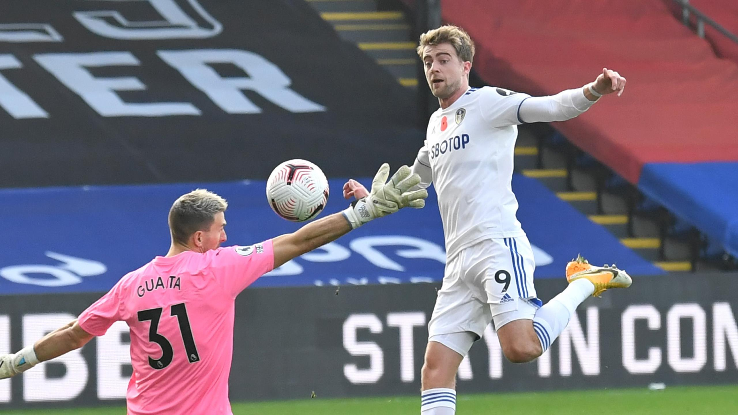 Crystal Palace V Leeds Patrick Bamford Goal Ruled Out For Pointing Eurosport