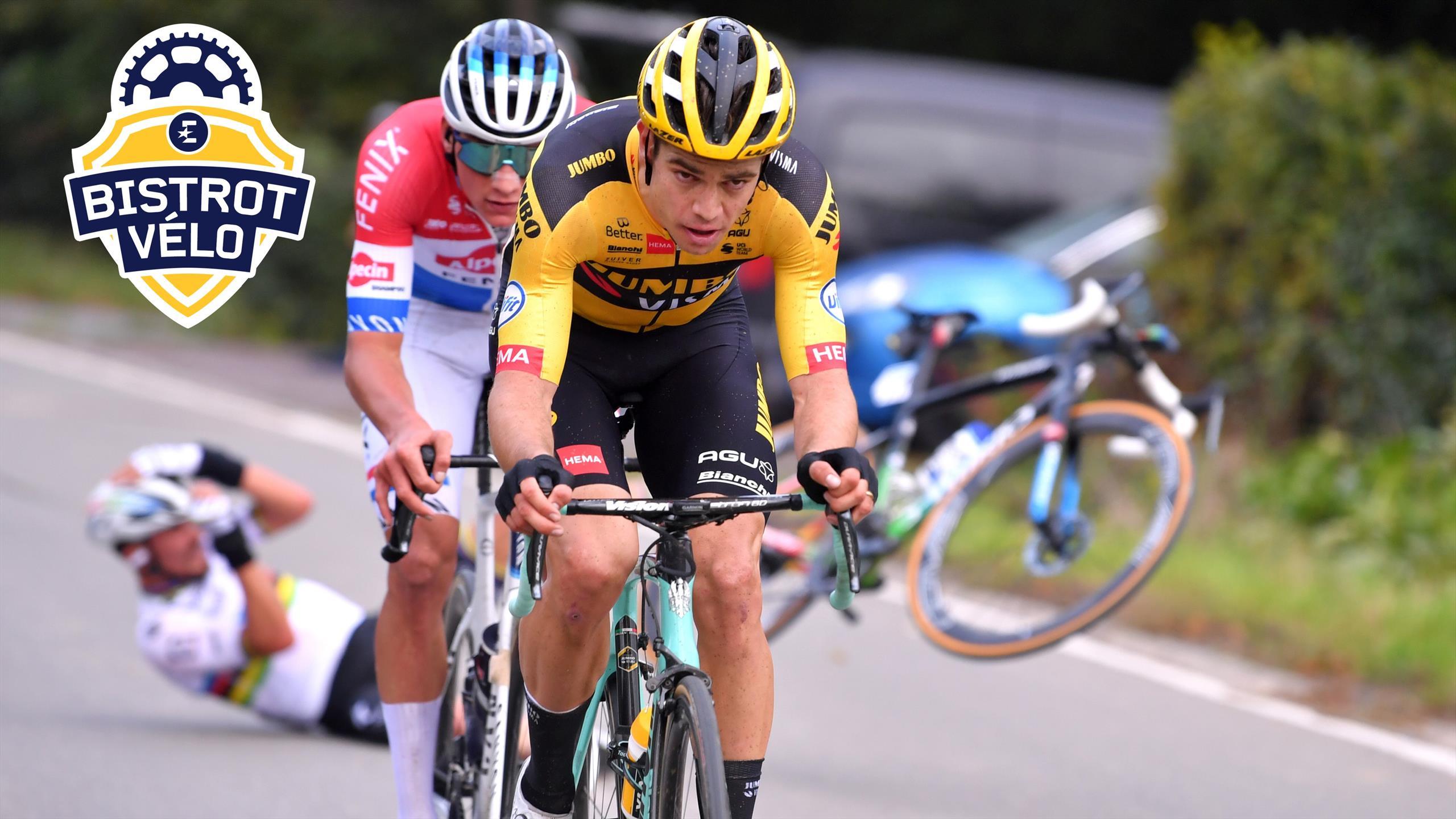 """Alaphilippe sur la chute du Ronde : """"Van Aert ne me prévient pas, il s'écarte au dernier moment"""""""