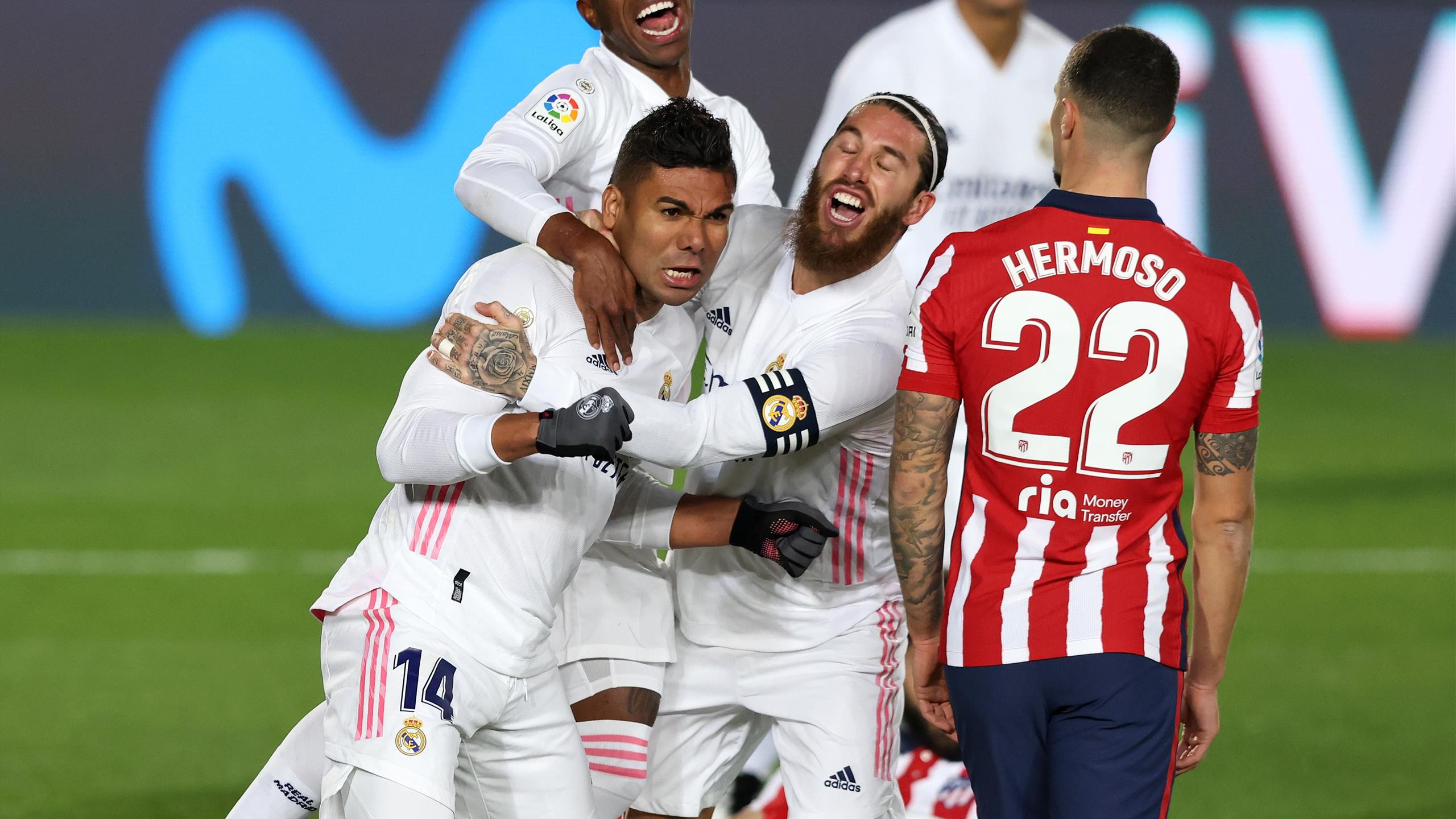 Liga, Real Madrid-Atletico Madrid 2-0: Casemiro e autogol di Oblak ...