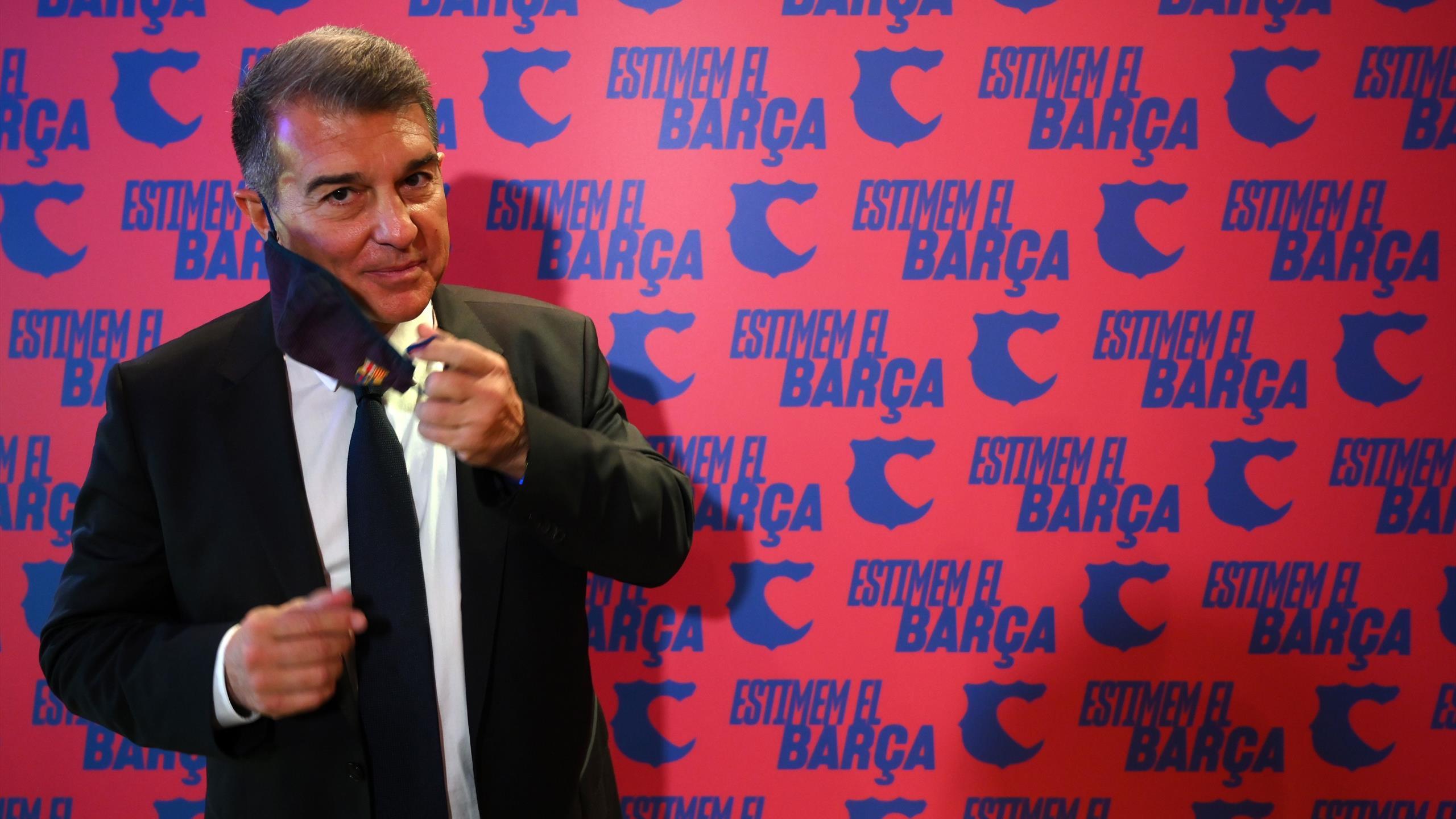 FC Barcelone : Il est de retour : Laporta nouveau président du Barça - Eurosport FR