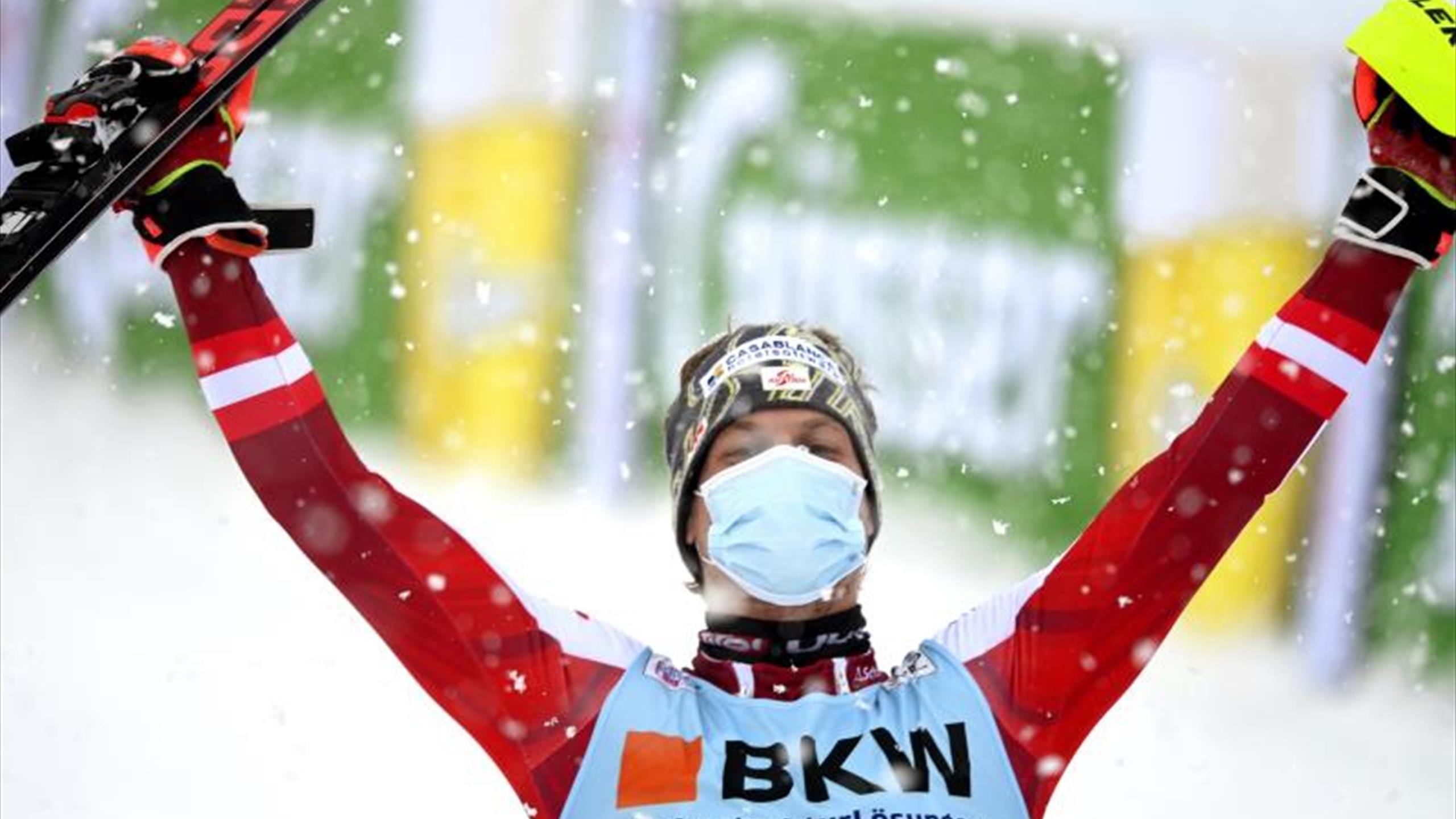 Manuel Feller ganó el eslalon de Flachau - Eurosport