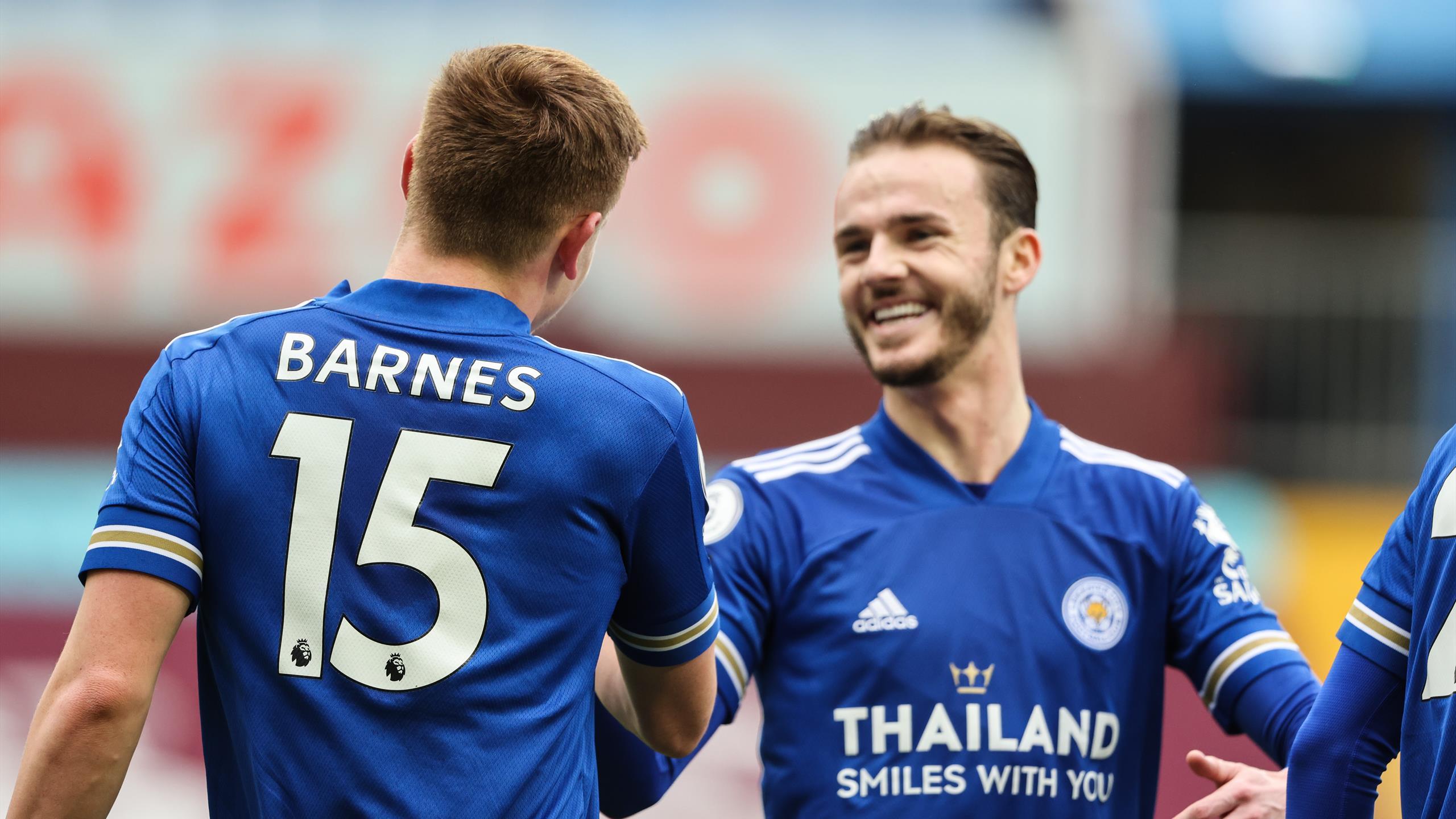 Premier League - Leicester s'impose à Aston Villa et met la pression sur Manchester United - Eurosport FR