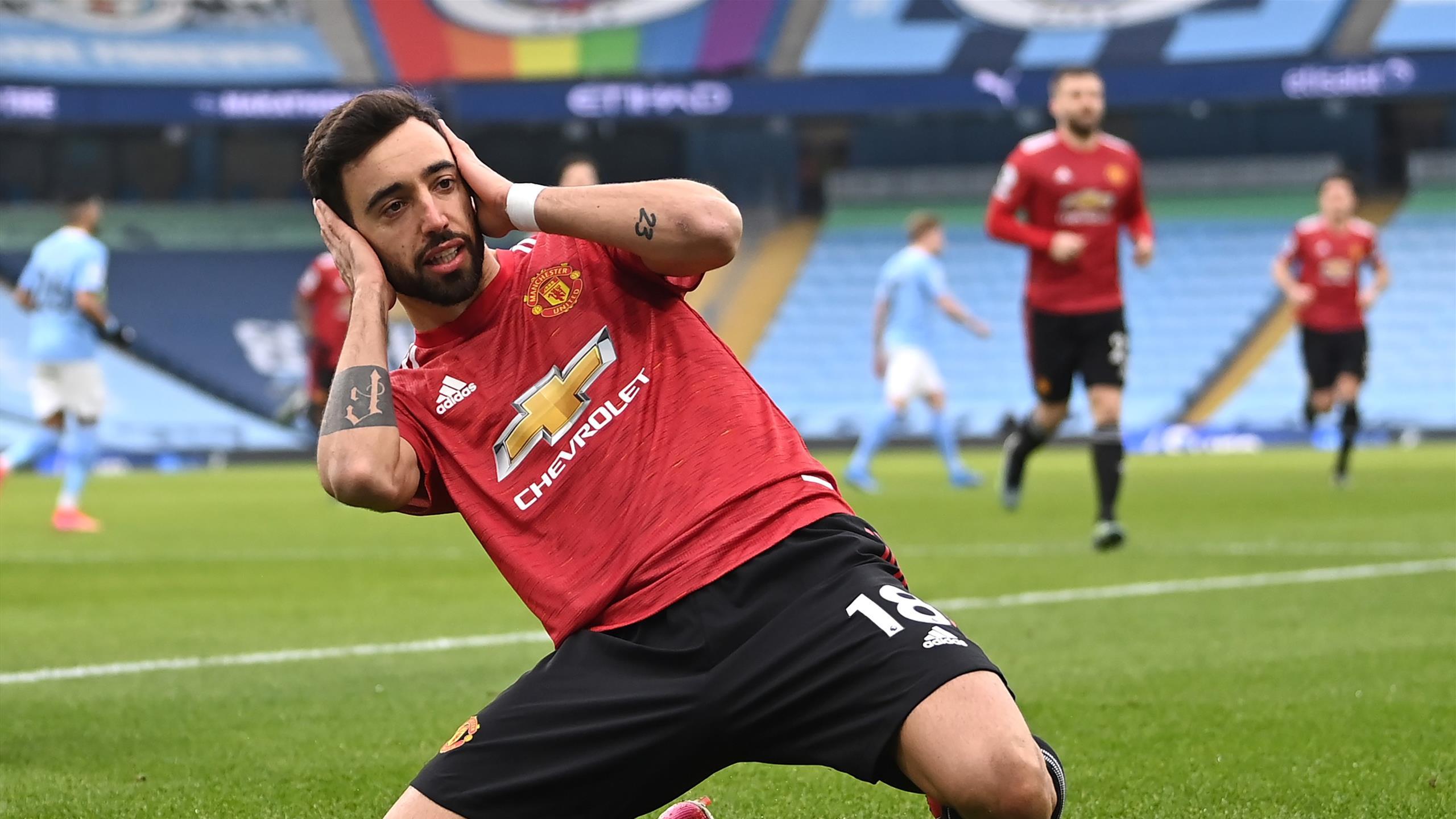 Manchester City 0-2 Manchester United: Citizens' 21-match winning streak  comes to crunching halt - Eurosport