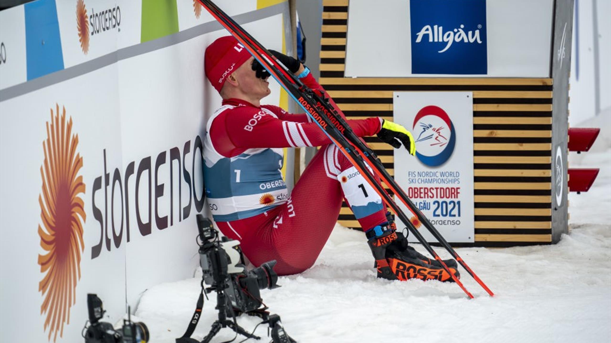 WM Oberstdorf: Alexander Bolschunow erklärt seine Tränen nach Drama im Sprint - Putin spendet Trost - Eurosport DE