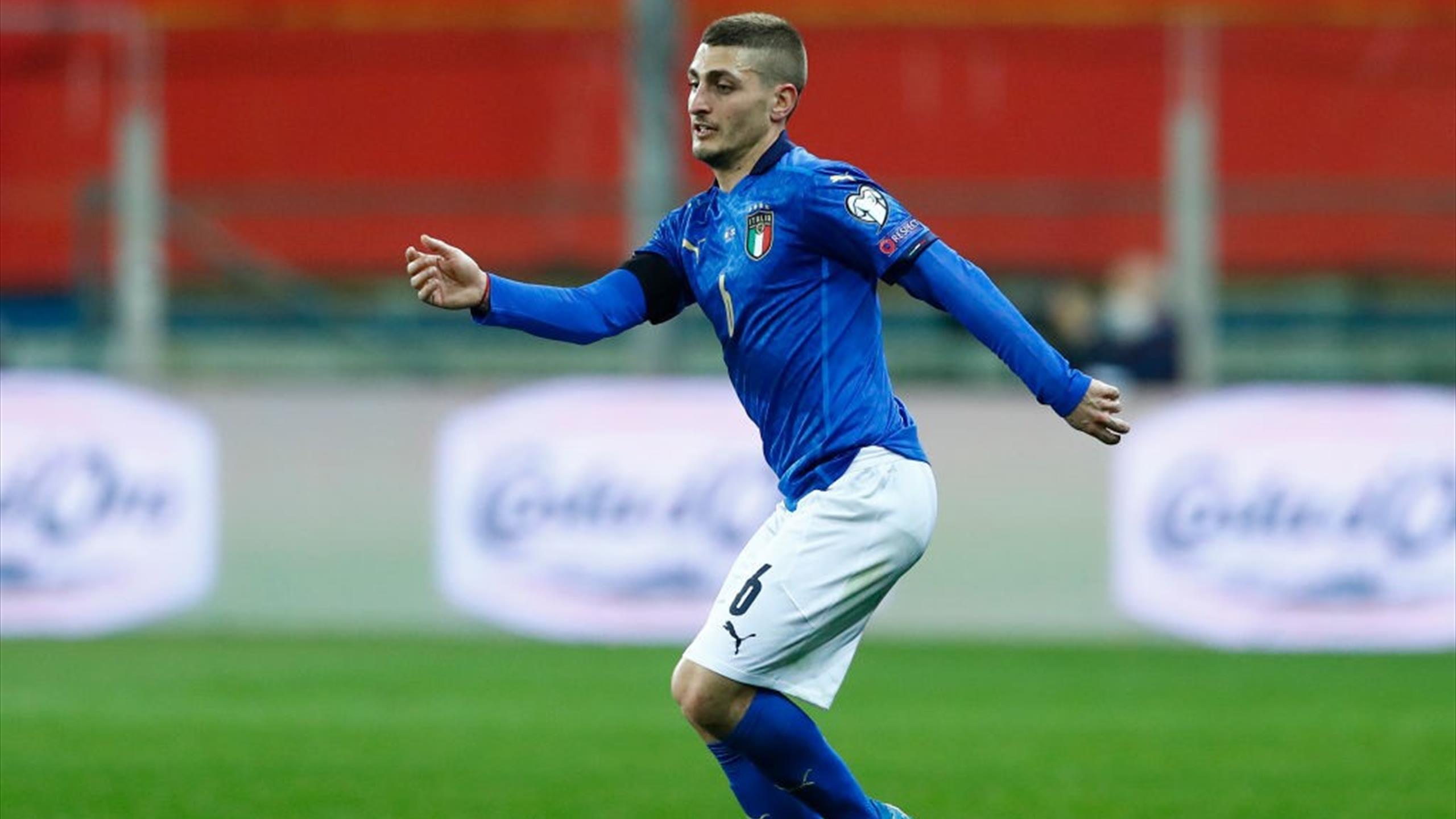 """Mancini """"assez confiant"""" sur l'évolution de la blessure de Verratti à un mois de l'Euro"""