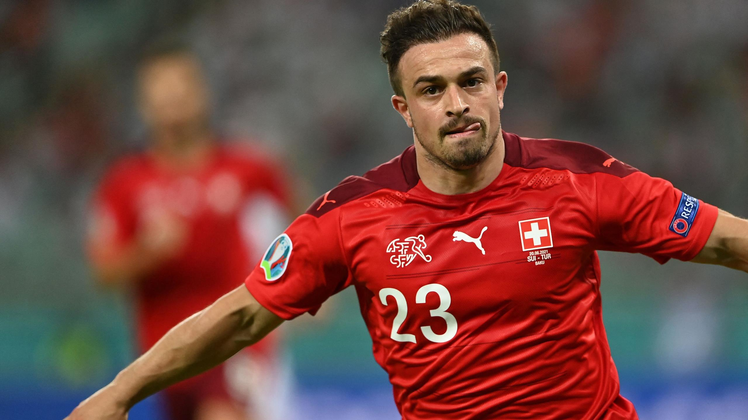 Xherdan Shaqiri em vitória da Suiça sobre a Turquia na Euro 2020