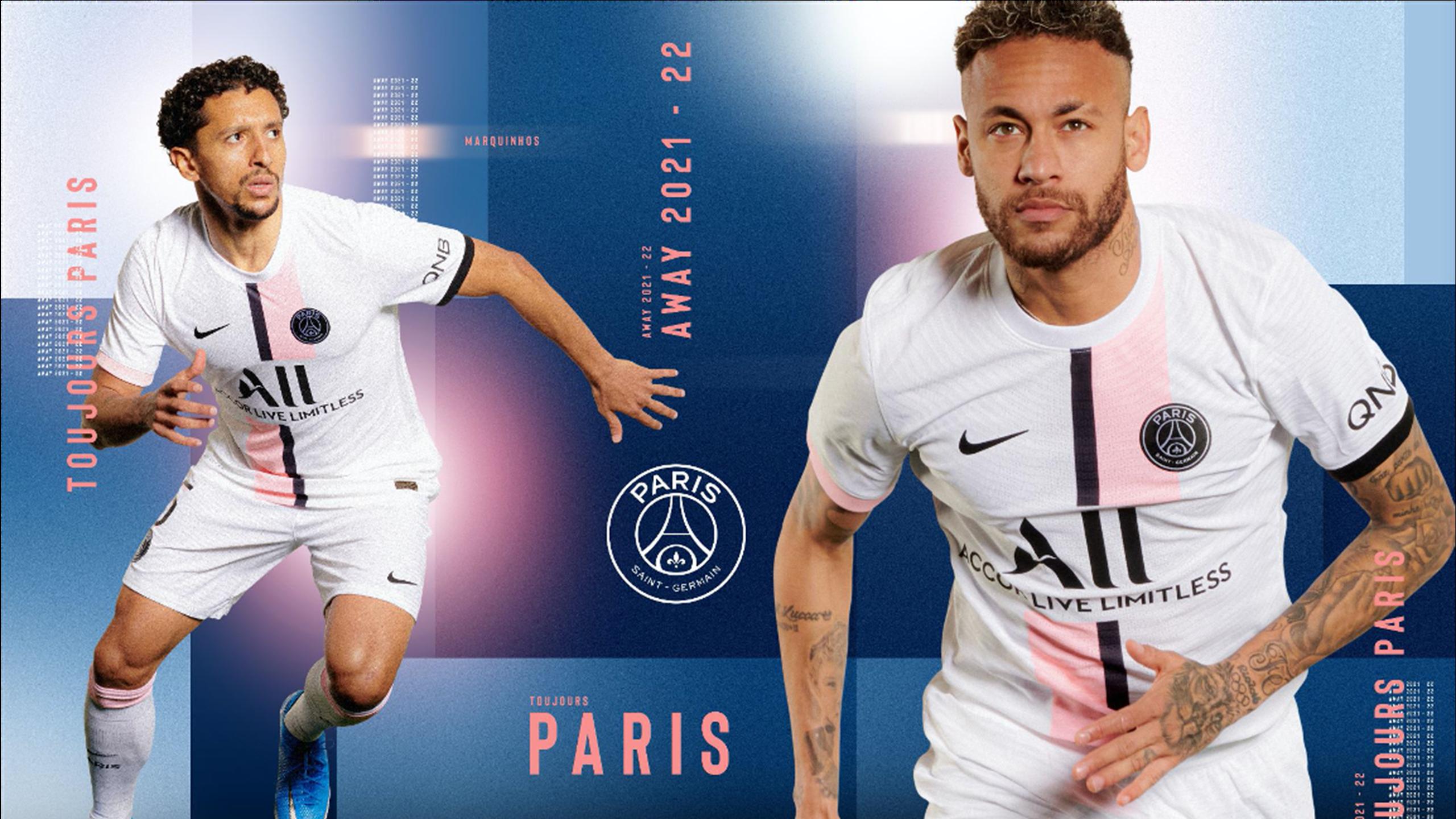 Blanc avec des touches de rose : le PSG dévoile son maillot extérieur