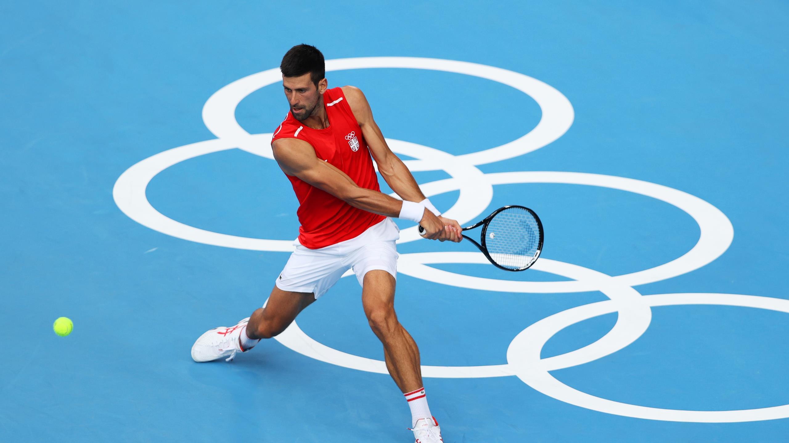 """Jamais sacré aux JO, Djokovic reste prudent avant Tokyo : """"La route est encore longue"""""""