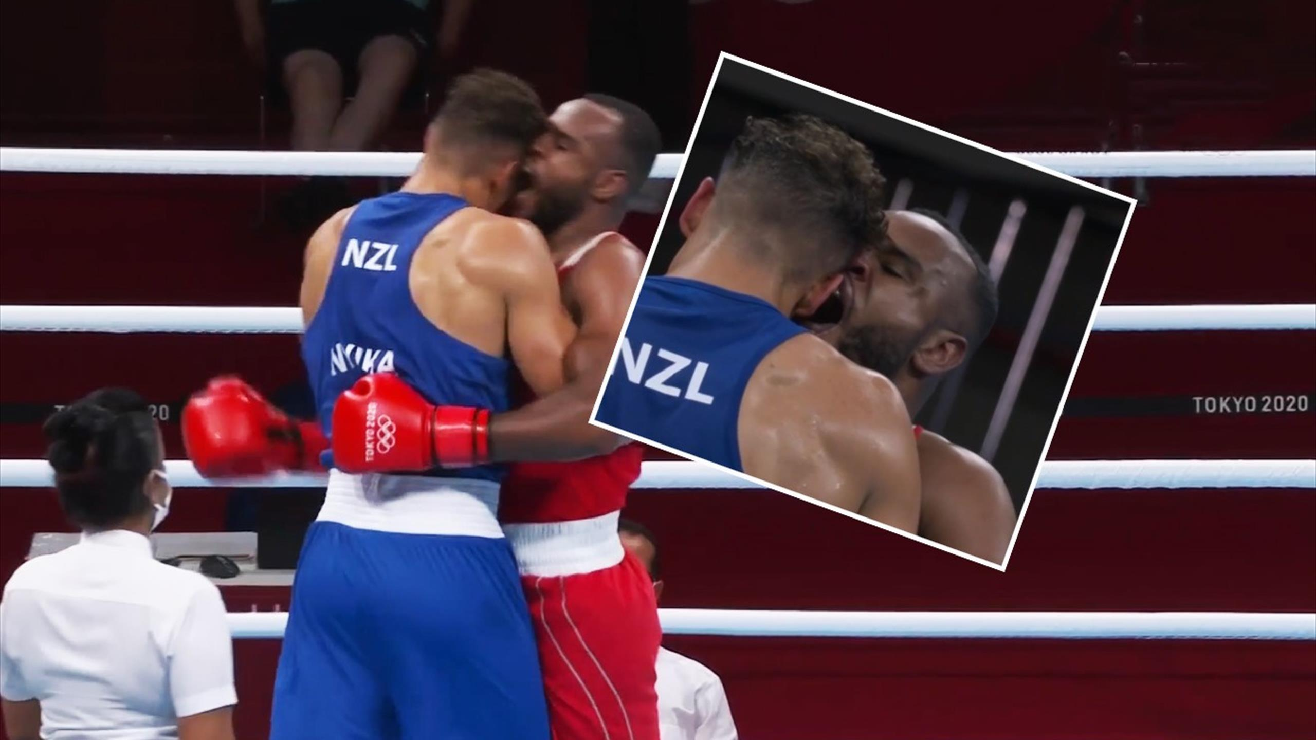 Tokyo 2020 – 'Act of absolute madness' – Boxer Youness Baalla attempts to bite opponent David Nyika's ear off