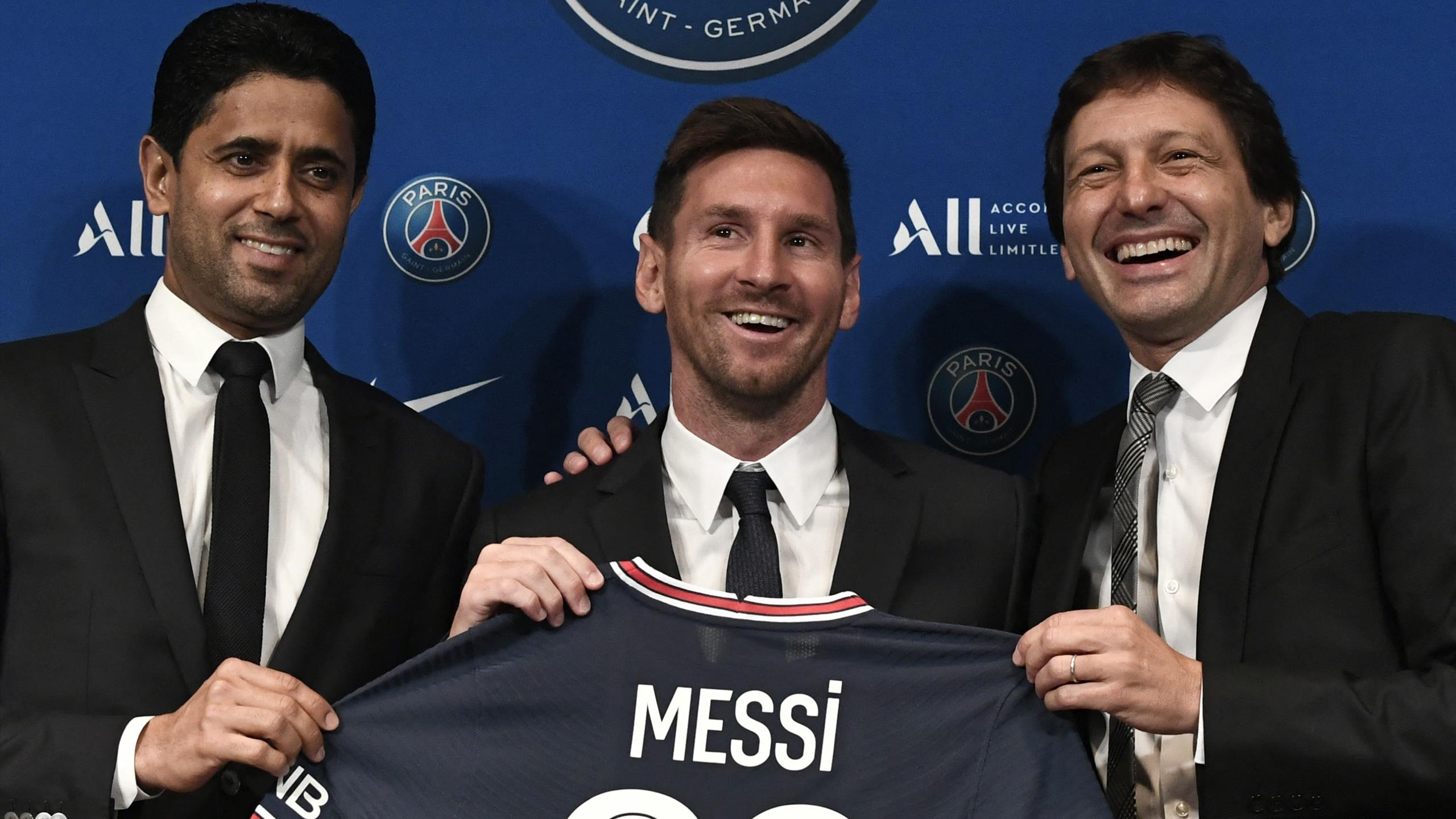 Lionel Messi wants to win the Champions League again as he is unveiled as a Paris  Saint-Germain player - Eurosport