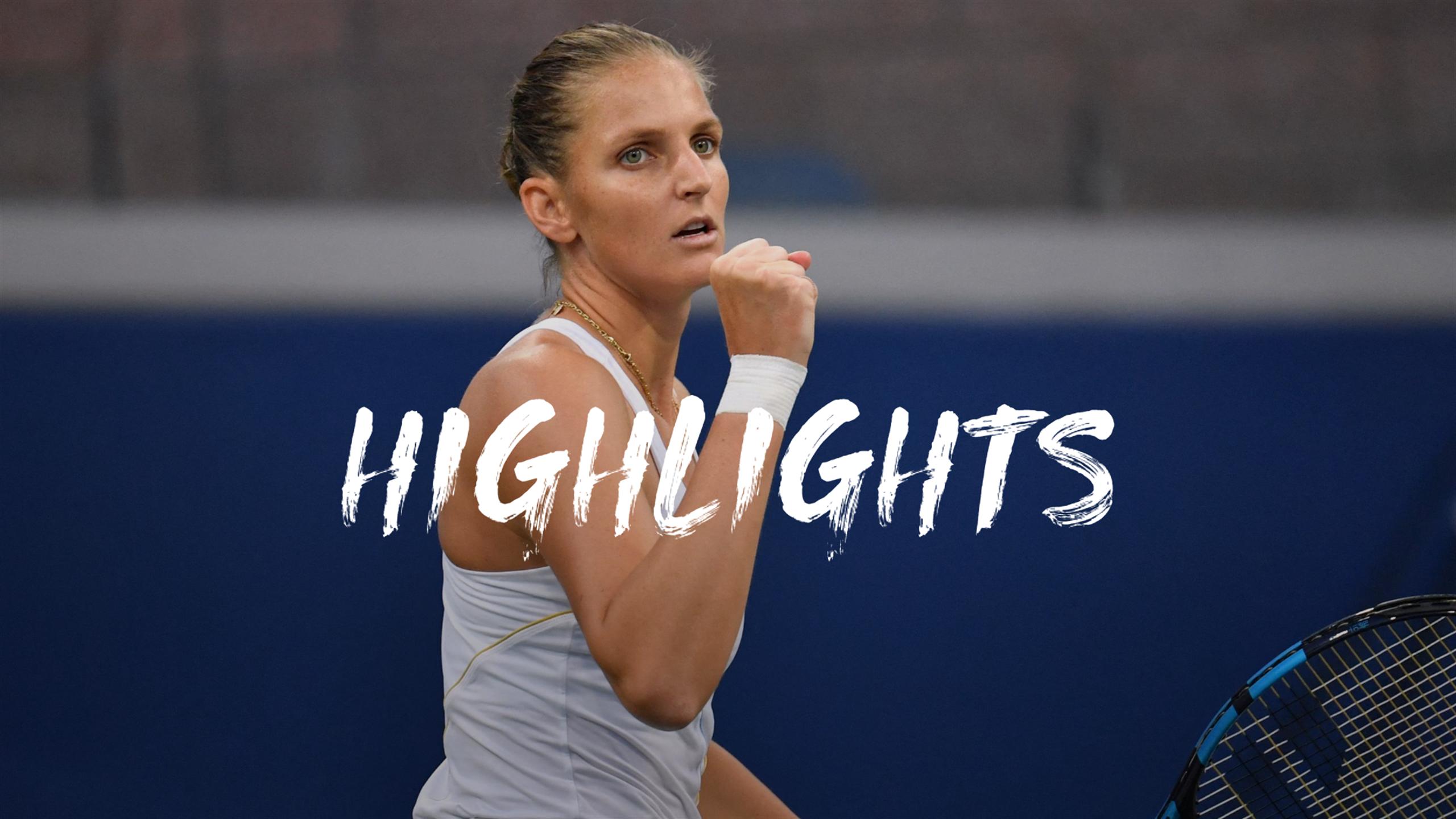 Pliskova file elle aussi en quarts : le résumé de sa victoire contre Pavlyuchenkova
