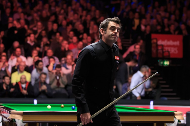 Ronnie in action at the Masters at Alexandra Palace in January.