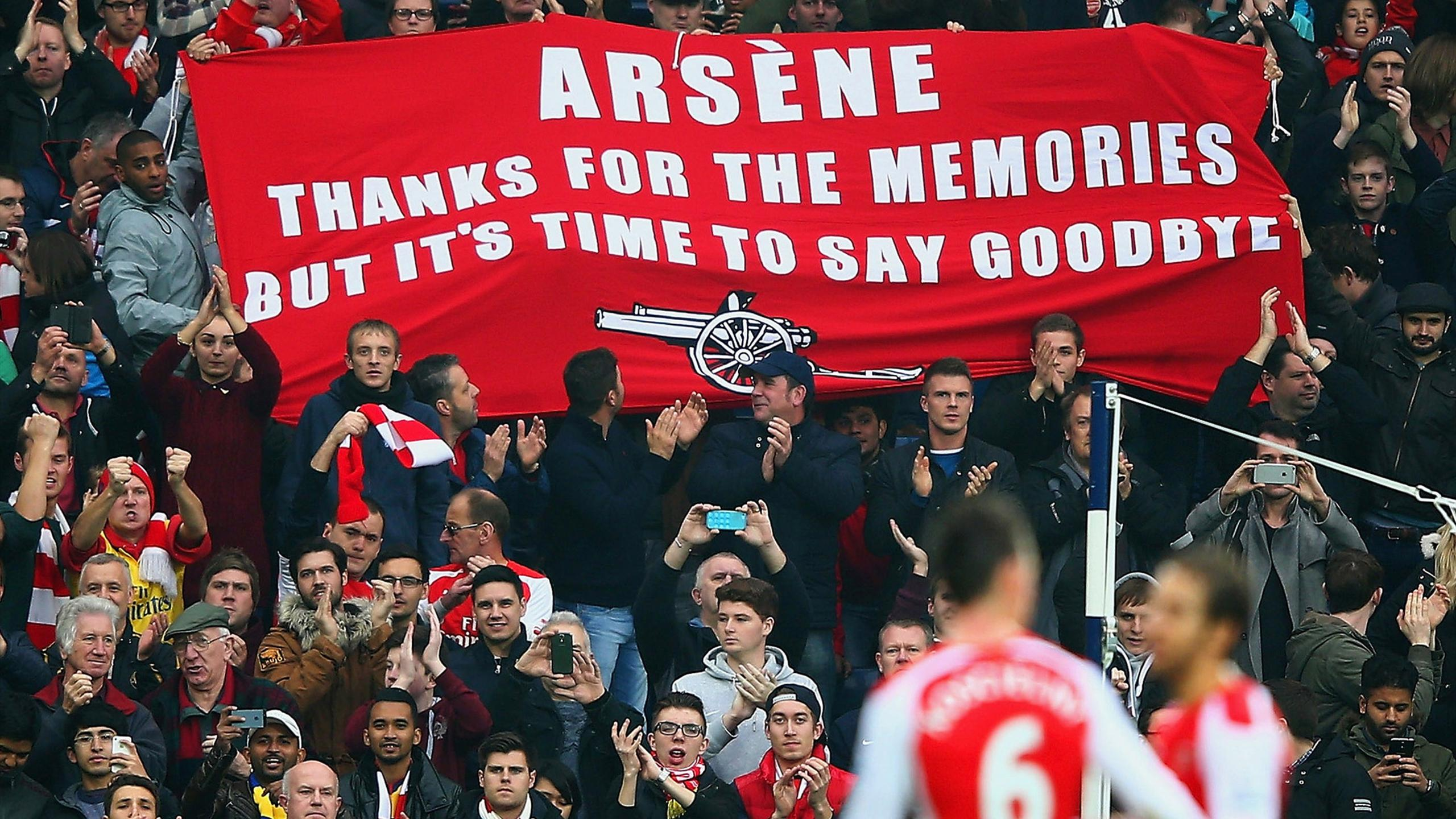 Arsenal fans display their anti-Wenger banner