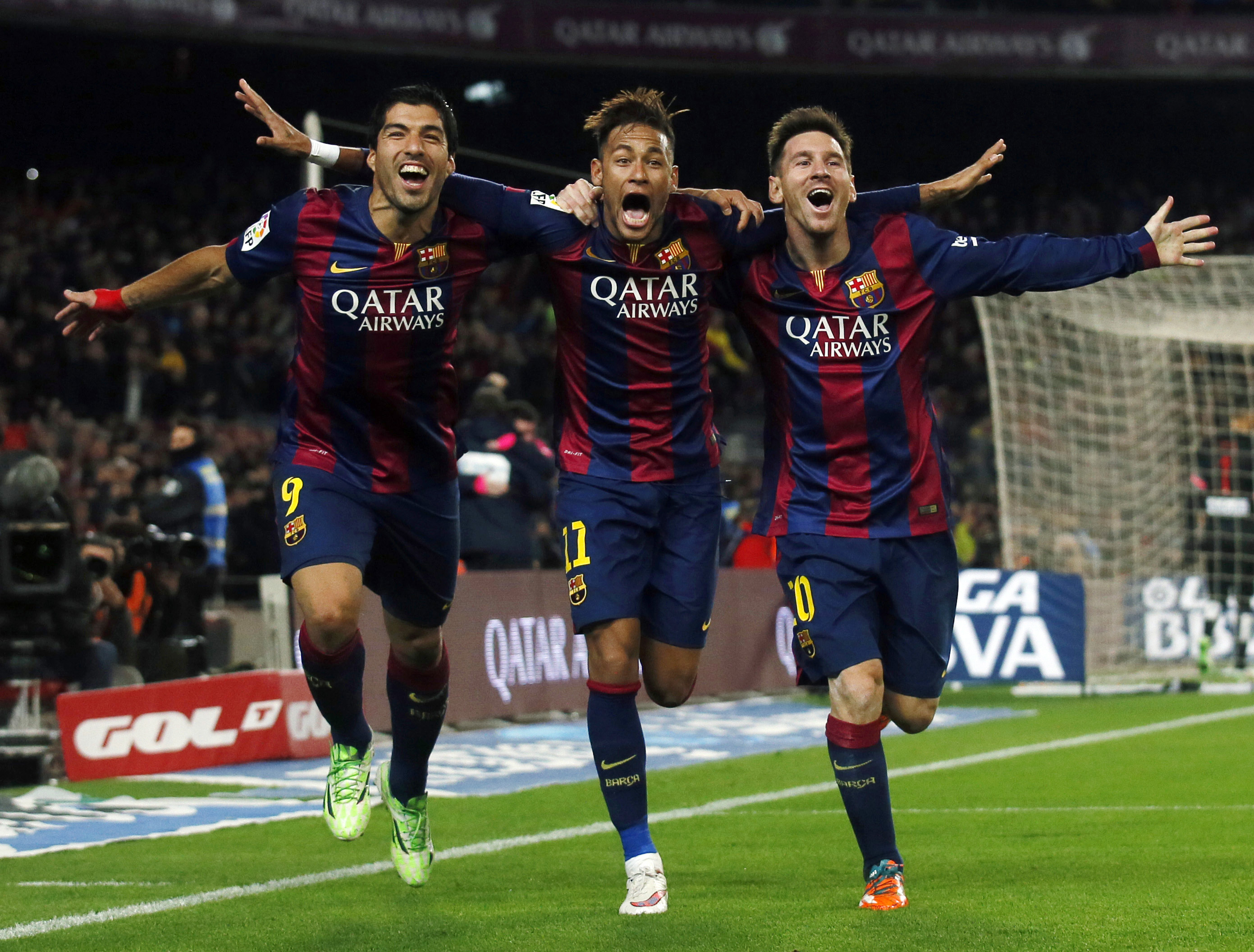 Image result for Lionel Messi with neymar