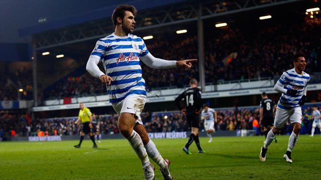 Charlie Austin celebrates scoring for QPR against Burnley