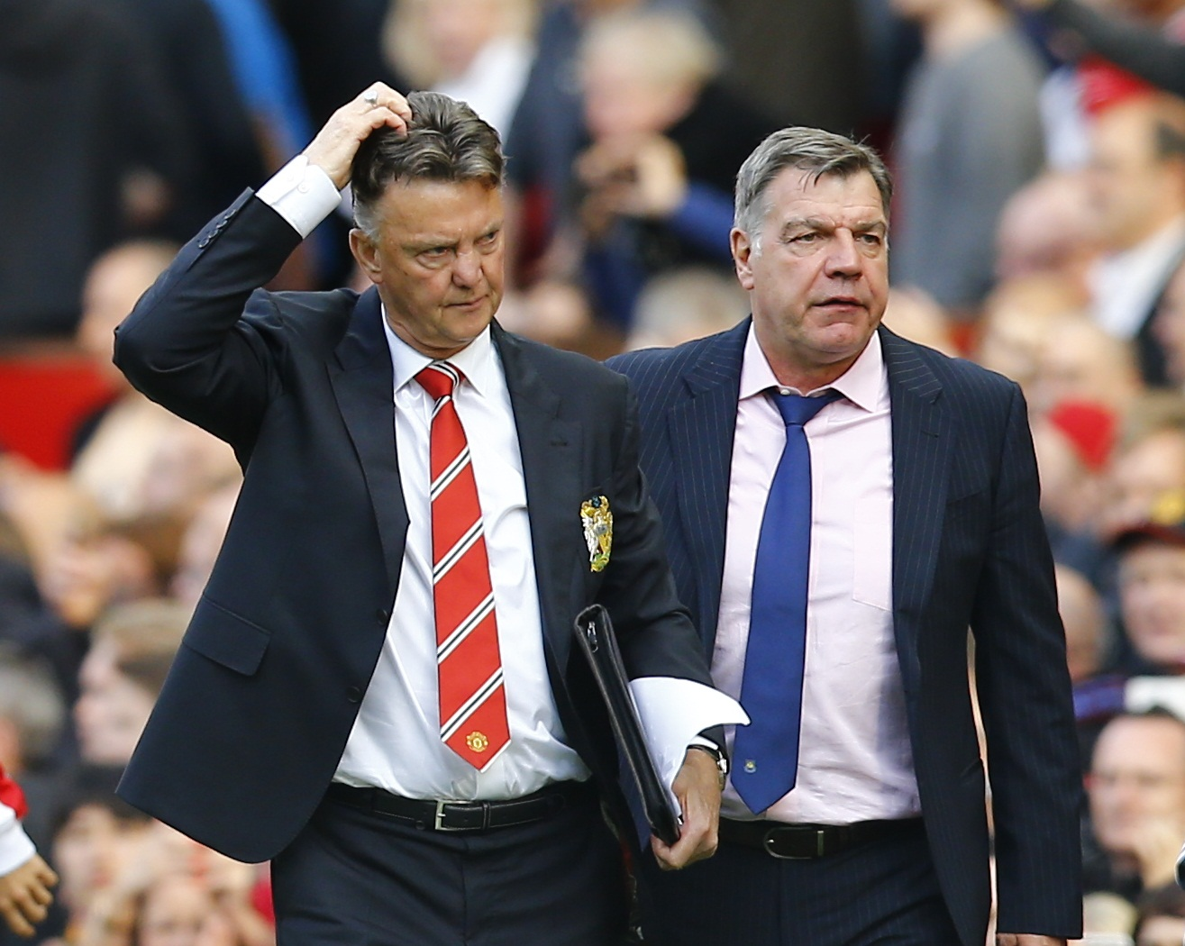 Sam Allardyce's long-ball jibe got under the skin of Louis van Gaal