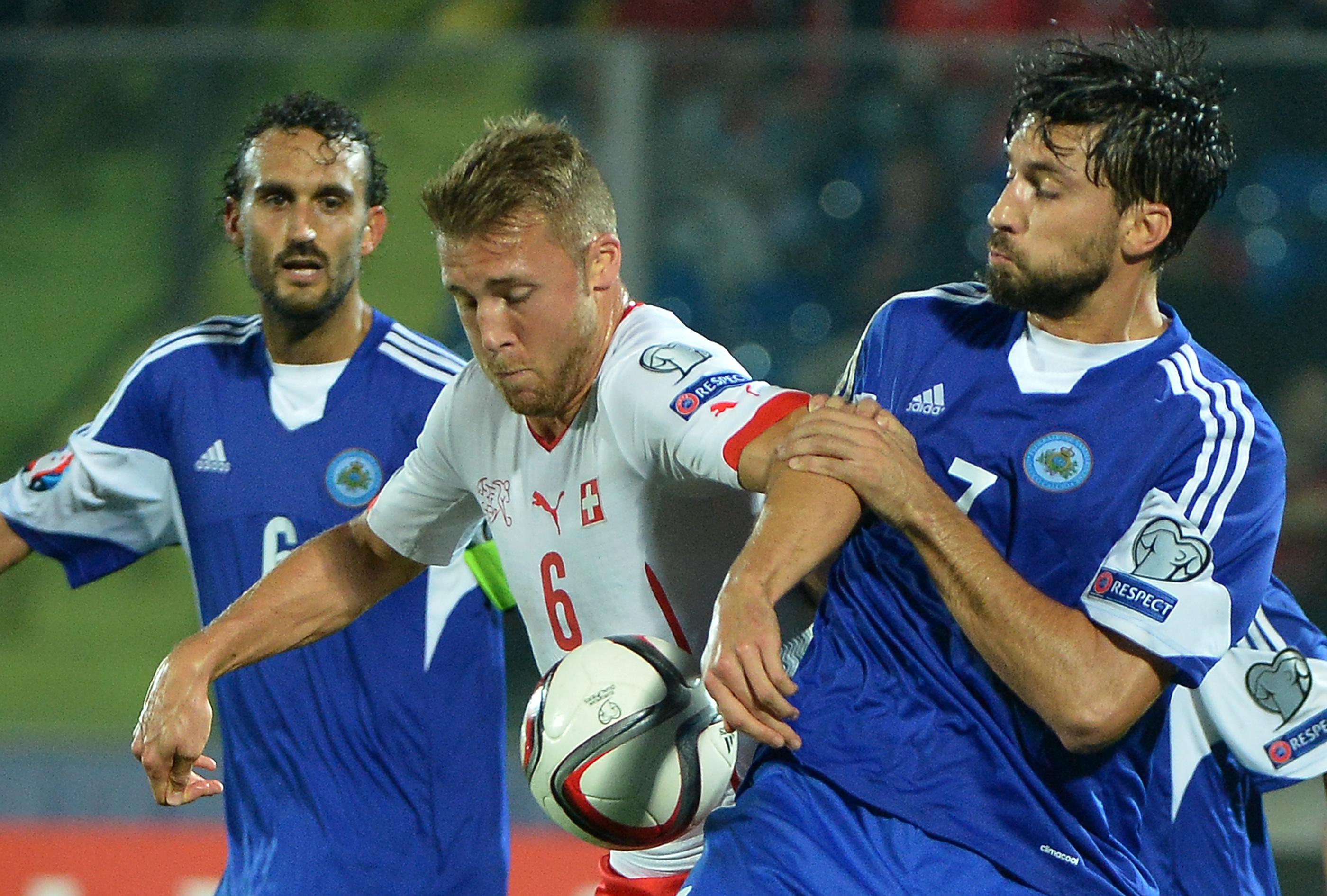 Mirko Palazzi, Widmer San Marino-Svizzera (Foto AFP)