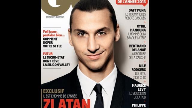 """Zlatan Ibrahimovic élu """"homme de l'année 2013″ par le magazine GQ"""