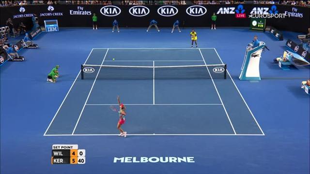 Serena a offert le 1er set à Kerber sur sa… 23e faute directe !