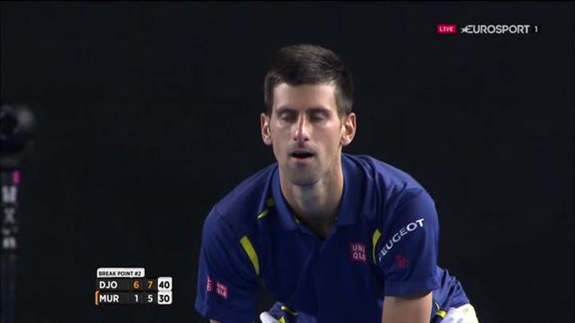 Le monstrueux passing long de ligne de Djokovic pour s'offrir un break