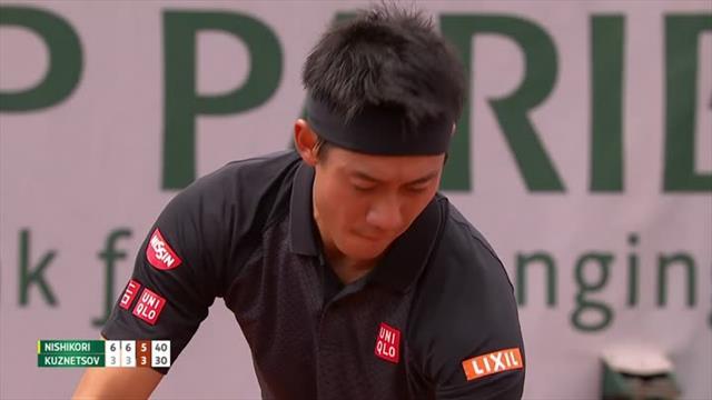 Kei Nishikori produces wonderful winner on match point