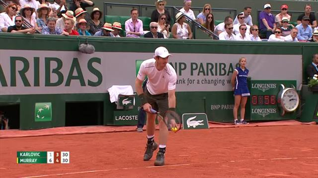 Andy Murray produces beautiful winner