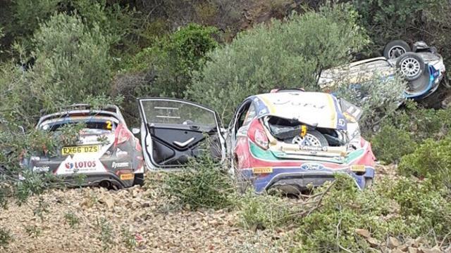 Encore des rebondissements sur le rallye de Chypre ERC alors que le trio de tête est sorti de la