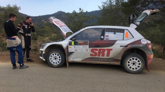 Encore plus d'ennuis pour Gryazin sur le Rallye de Chypre ERC