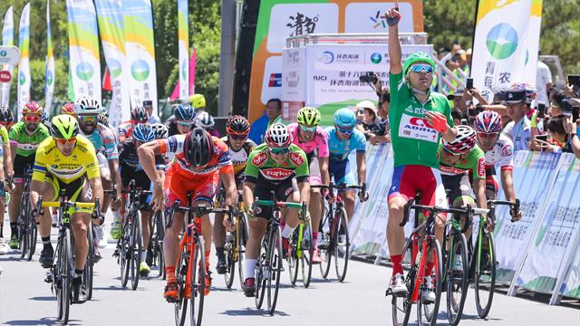 Rajovic sprints into yellow at Qinghai Lake