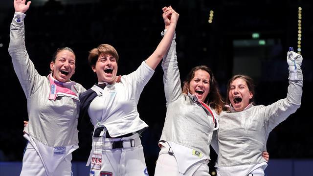 Итальянские саблистки стали чемпионками мира