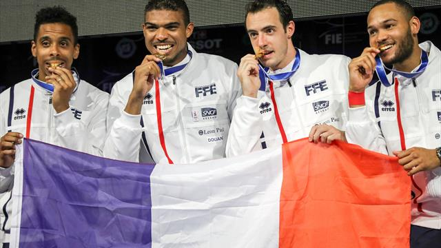 France win gold in men's team epee, Italy claim women's team sabre title in Leipzig