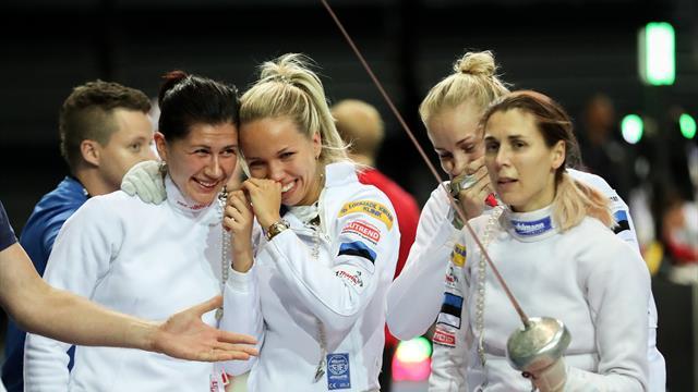 Les épéistes estoniennes sacrées championnes du monde