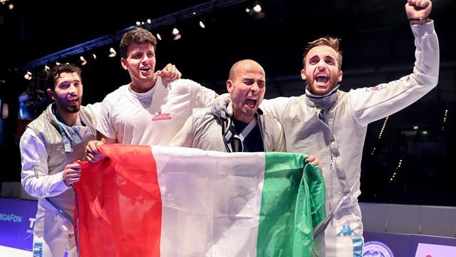 Championnats du monde d'escrime seniors 2017, l'Italie au premier rang