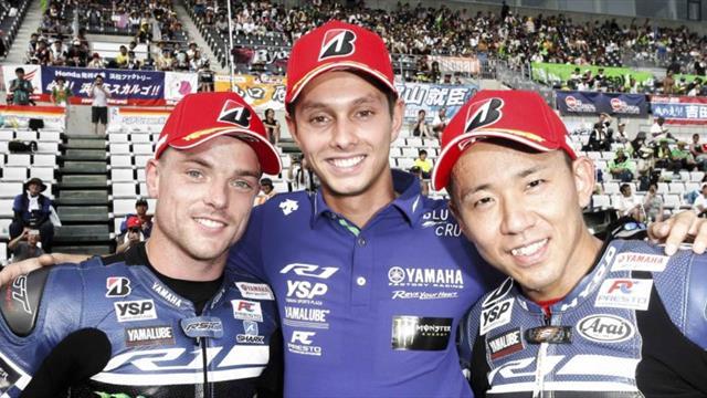 Malaysian Azlan Shah on podium at Suzuka 8 Hours