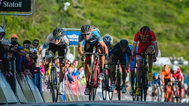 Jensen pips Teuns with bike throw on Arctic Race queen stage