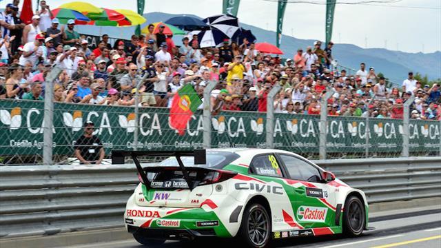 Monteiro recibe palabras de apoyo de los pilotos del WTCC