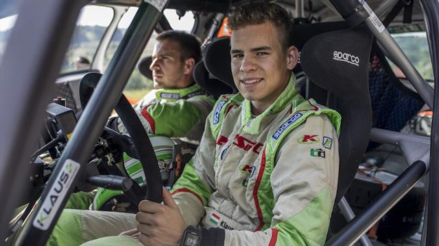 Klausz in ERC Junior return after co-driver recovers