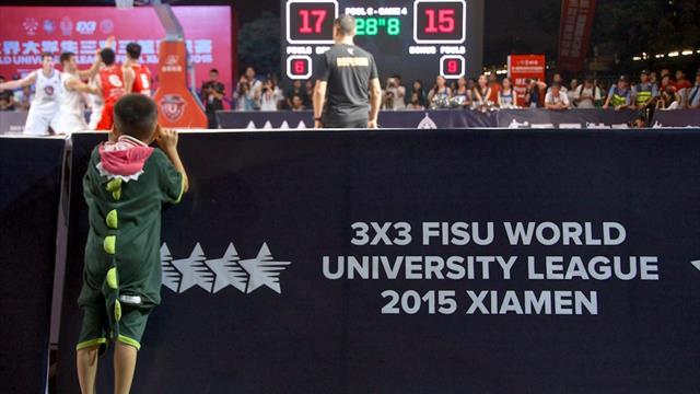 Coup d'envoi des finales du Championnat du Monde Universitaire FISU de basket 3×3 à Xiamen