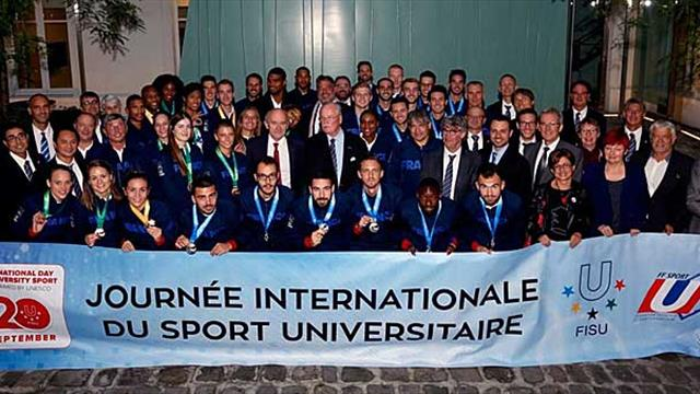French 2017 SU Medalists celebrated at the Ministry of Sports & MAIF