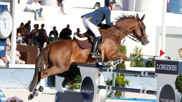 Evelina Tovek created the surprise in Rome. Scott Brash came fourth